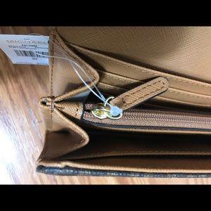Michael Kors Bags - Michael Kors Flat Continental Wallet Brow Corn W